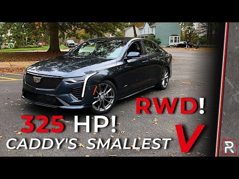 The 2020 Cadillac CT4-V is a Caddy's New 325 HP RWD Small Sport Sedan