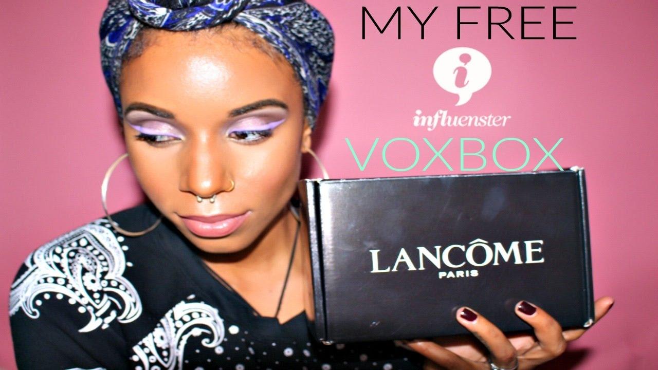 Free Makeup Products From Influenster| FT. Lancôme Paris Unboxing VoxBox