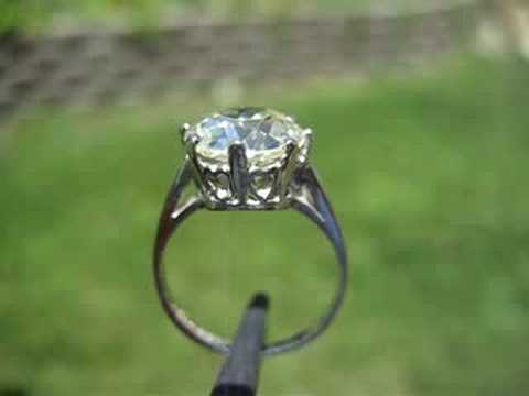 3.52 Antique Diamond, orig Plat setting