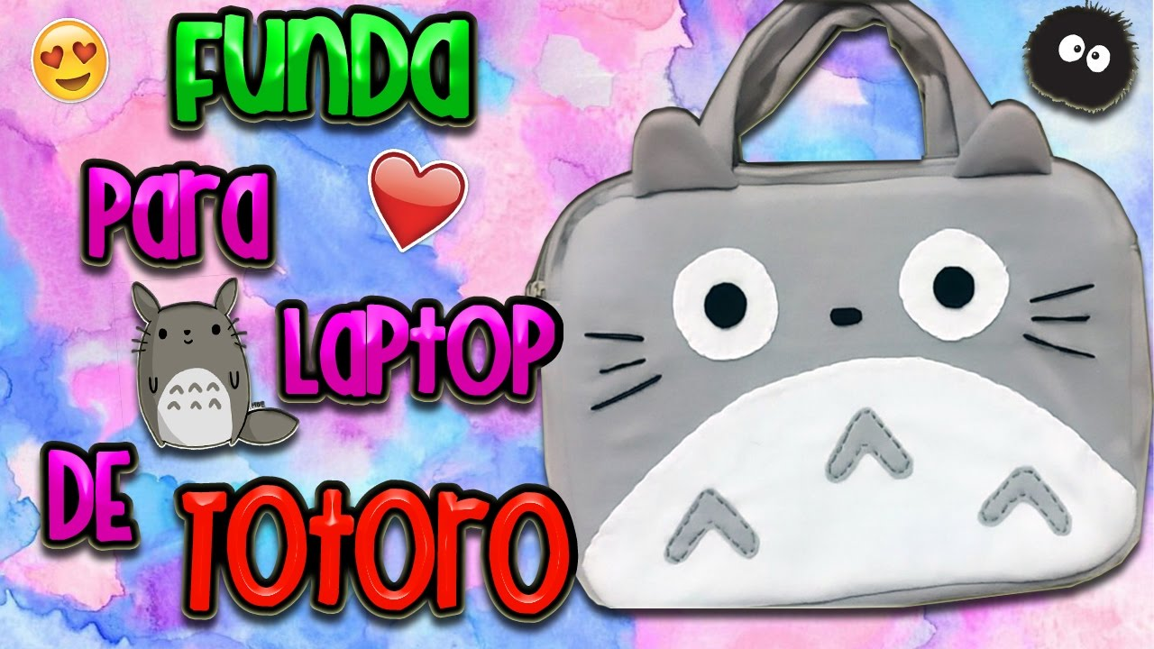 Diy funda de totoro para laptop youtube - Fundas para unas de gato ...