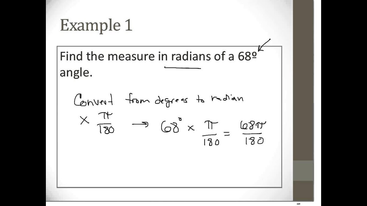 13 4 converting radians to degrees and degrees to radians ex 1 ...