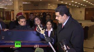 Владимир Путин подарил Николасу Мадуро копию клинка Симона Боливара