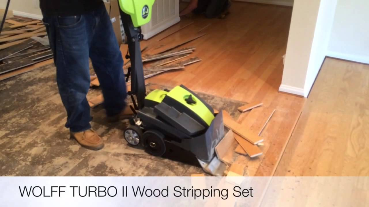 Hardwood Floor Stripping Part - 50: Wolff Turbo II With Wood Stripping Set