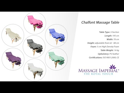 Massage Imperial® - Chalfont Massage Table by Massage Imperial - Demo