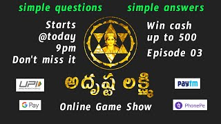 Adrushta Lakshmi EP 03 | Online Game Show