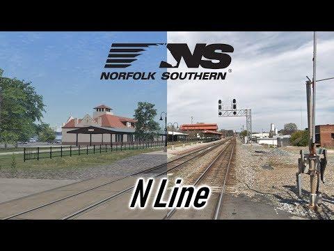 Railworks vs. Reality - Norfolk Southern N-Line |