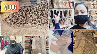MY SHOPPING VLOG | शादी का लहंगा देख लो | SANDALS, SUIT | AMINABAD LUCKNOW BEST LEHENGA SHOP || VLOG