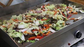 Plancha de chou chinois aux six légumes