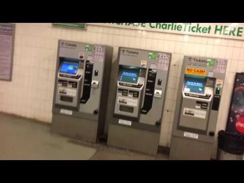 Boston riding Green Line Mbta T