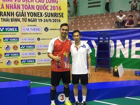 Phạm Cao Cường vs Nguyễn Tiến Minh - Chung kết giải cầu lông cá nhân toàn quốc 2016