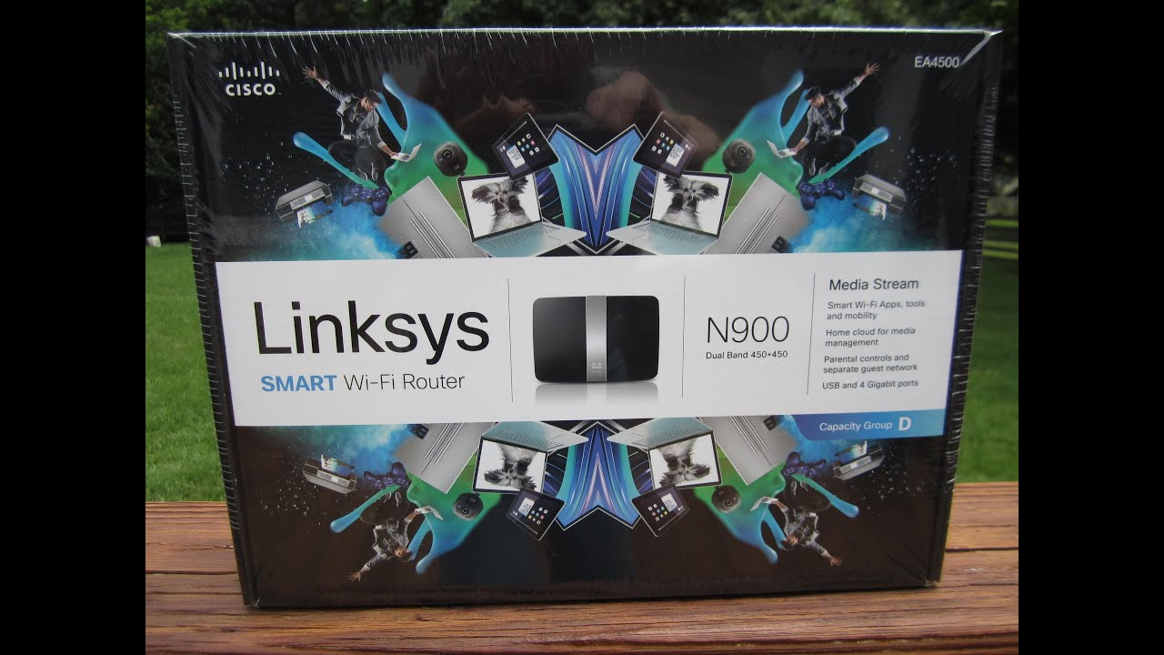 Cisco Linksys EA4500 SMART Wi-Fi Router Unboxing, Configuration &  Connection - June 10, 2013