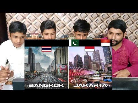 BANGKOK  JAKARTA  Two City Skyline in Southeast Asia FULL HD 2021   Pakistani Reaction   D-R-RUE