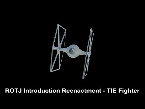 TIE Fighter Animation - Return of the Jedi Introduction Reenactment