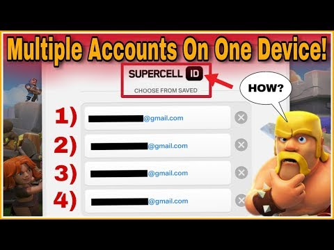 How To Play Multiple Accounts On One Device Using SUPERCELL ID Easily!?   Clash Of Clans HINDI