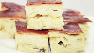 Погача с сыром - Воздушный хлеб с сыром и зеленью / Pogača recept