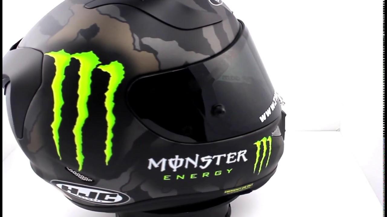 Hjc Rpha 11 >> HJC RPHA 11 Monster Energy Helmet CAMO - TheVisorShop.com - YouTube