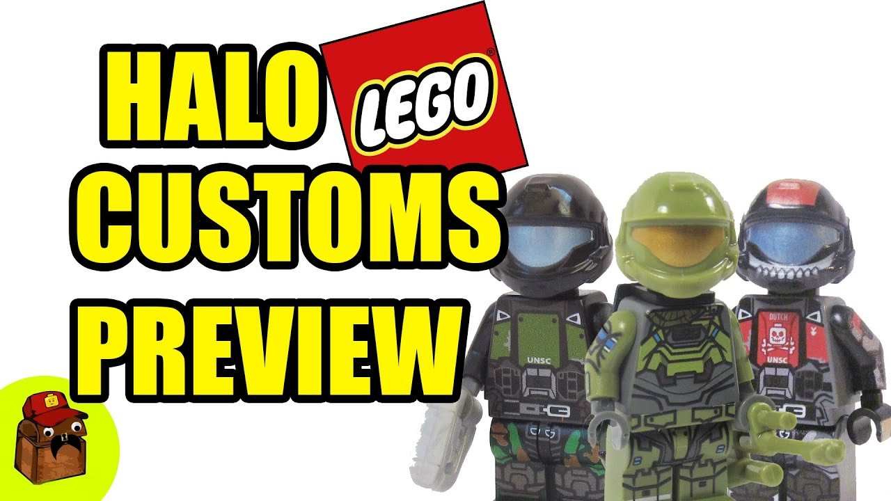 Halo Lego Custom Preview Minifigures 2017 Y76gybf
