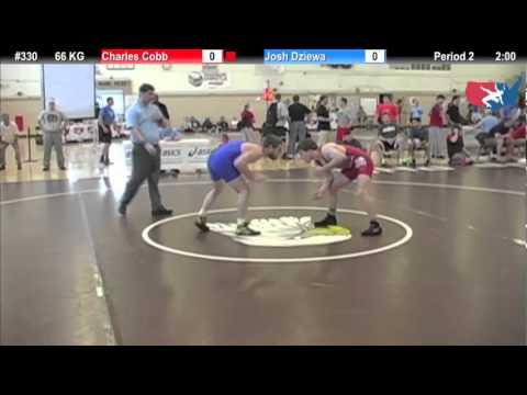 FILAJR WTT: 66 KG Charles Cobb (Sunkist Kids) vs. Josh Dziewa (Hawkeye WC)