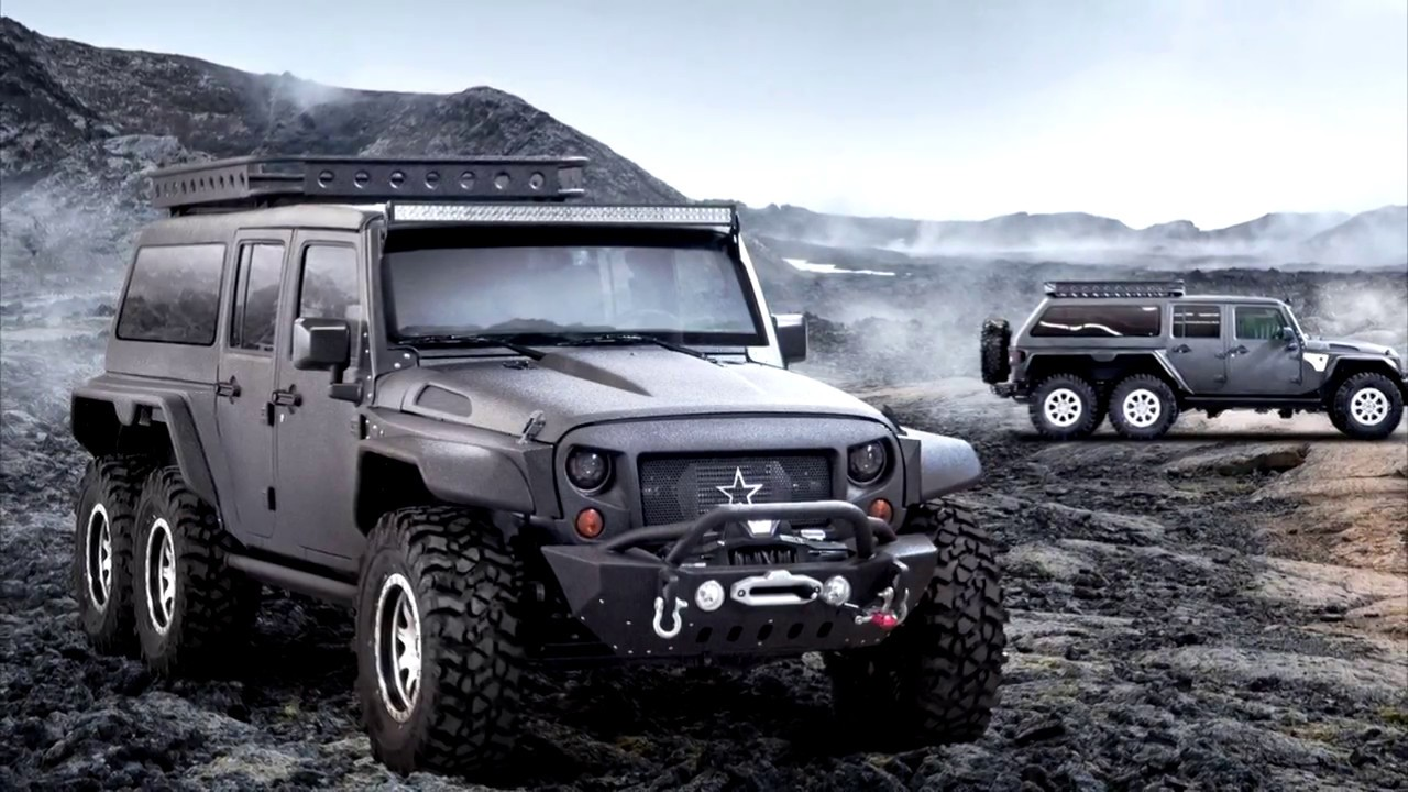 Chinese Firm Reveals 6x6 Jeep Wrangler Dubbed The Tomahawk - YouTube