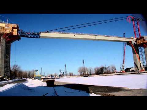 Puentes empujados, los puentes que como su nombre indica se colocan a empujones