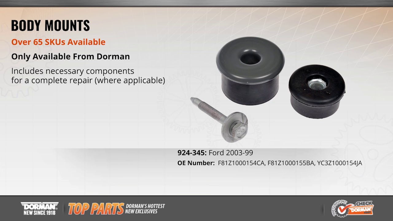 Body Mount | 924-345 | Ford Body Mount Kit | Dorman Products