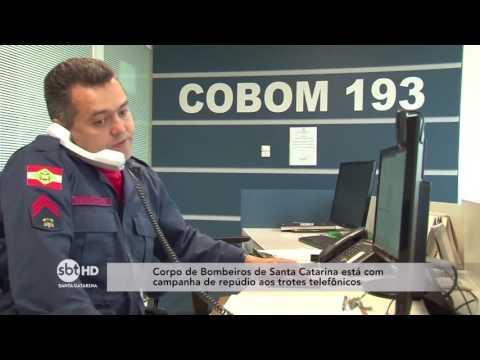 Corpo de Bombeiros de Santa Catarina realiza campanha de repúdio aos trotes telefônicos