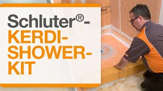 How to waterproof your shower installation with the Schluter®-KERDI-SHOWER-KIT Complete Kit