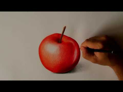 Kresba Pastelkami Jablko Youtube
