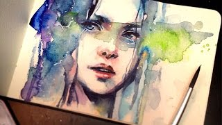 【WATERCOLOR PORTRAIT】The Premonition