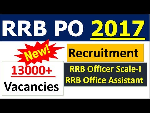 IBPS RRB 2017 Notification 13000+ POST | Age , Qualification