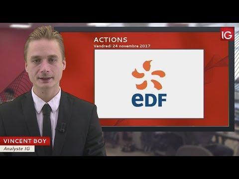 Bourse - Action EDF, rumeurs de restructuration - IG 24.11.2017