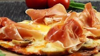Kartoffelpizza aus der Pfanne - ein köstliches Pizza  Rezept mit Käse und Schinken