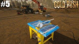 COMPREI A MESA SEPARADORA E CONTRATEI TRABALHADORES! Gold Rush : The Game 5#