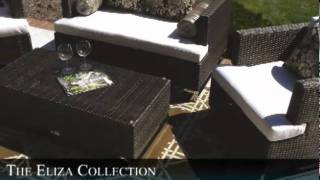 The Eliza Collection All Weather Wicker Patio Furniture Deep Seating Set