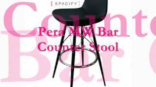 Swivel Metal And Wood Counter Bar Stools, Contemporary Bar Stools| Spacify