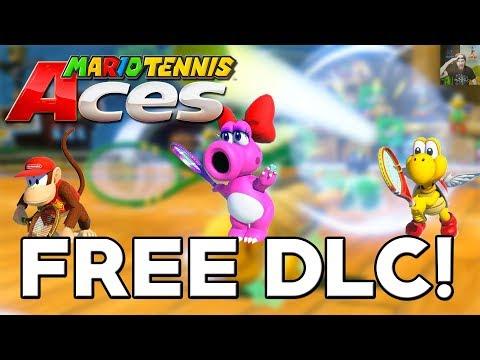 Mario Tennis Aces - More FREE DLC Announced (Diddy, Birdo, & Koopa Paratroopa)!