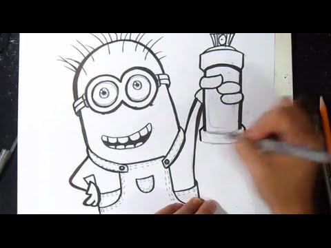 Come disegnare un minion graffiti youtube for Immagini di murales e graffiti