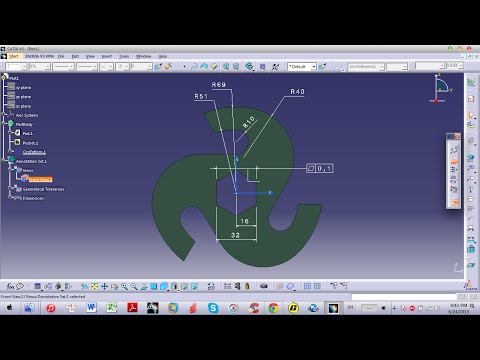 CATIA | Tricks & Tips | *A*  Making Output Feature Aided Sketch Tutorial
