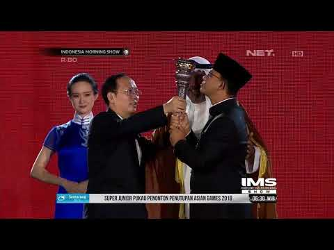Momen Anies Baswedan Serahkan Tongkat Estafet Asian Games2018