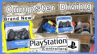 Found new Sony PlayStation gaming controllers Dumpster Diving #225