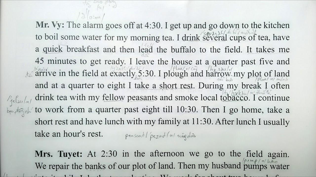 Bài Nghe Tiếng Anh Lớp 10 Unit 1 Phần A  Reading