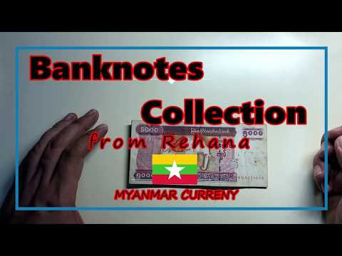 Myanmar Currency From Rihanna Banknotes Collection