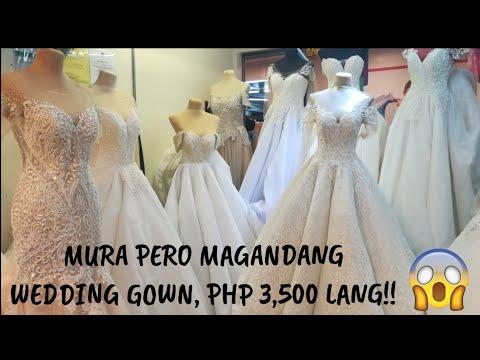 DIVISORIA WEDDING GOWNS!! PHP3,500 LANG! l MURA NA, MAGANDA PA . http://bit.ly/2HDu3dS