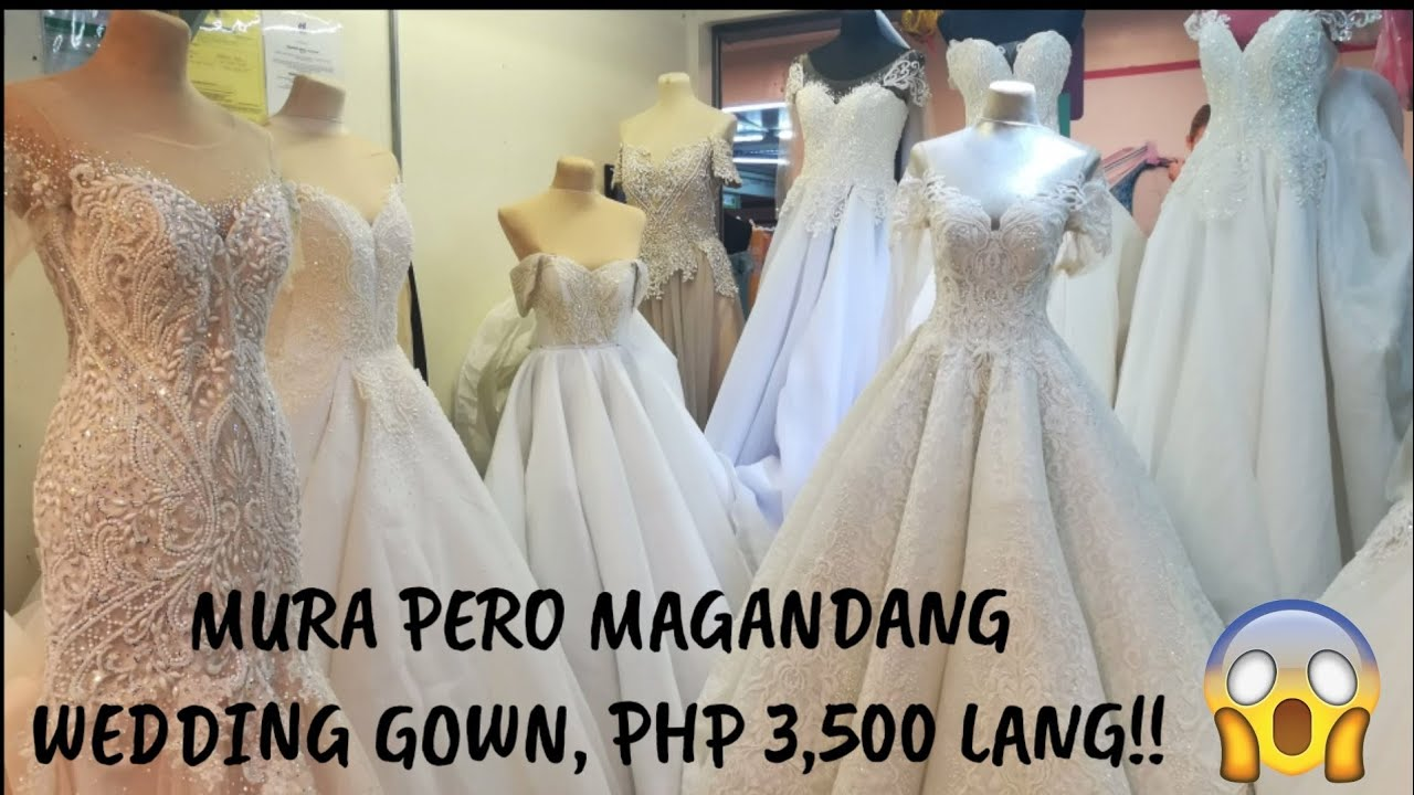 DIVISORIA WEDDING GOWNS!! PHP3,500 LANG! L MURA NA