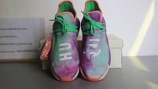 AC7034 Adidas Pharrell Williams HU Holi NMD Shoes Chalk CoralGreenPurple