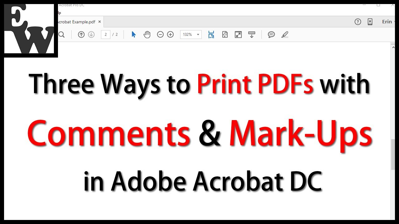 Three Ways to Print PDFs with Comments and Mark-Ups in Adobe Acrobat ...