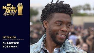 Chadwick Boseman Chats Wakanda Forever Salute, Avengers 4 & More! | 2018 MTV Movie & TV Awards