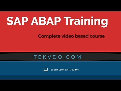 SAP ABAP Training - Complete video based course - SAP ABAP