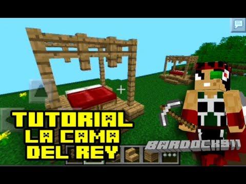 Como hacer una cama decorativa en minecraft facil youtube for Cama minecraft