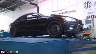 gthaus presents infiniti q50 red sport 3 0t musa series gt exhaust system